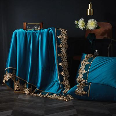 2020新款-蕾丝夏被 150x200cm 宝石蓝