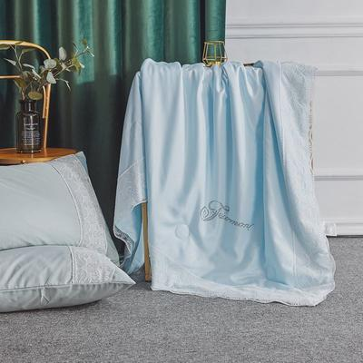 2020新款-蕾丝夏被 150x200cm 天蓝色