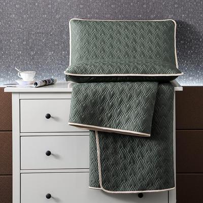 2021新款玻尿酸60S天丝乳胶凉席天丝软席子乳胶席天丝凉席 1.8*2.0m三件套 橄榄绿