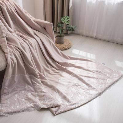 新款韩式蕾丝夏被天丝空调被夏凉被四件套 夏被150x200cm 梦露-米驼