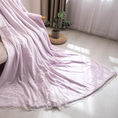新款韩式蕾丝夏被天丝空调被夏凉被四件套 夏被150x200cm 梦露-浅紫