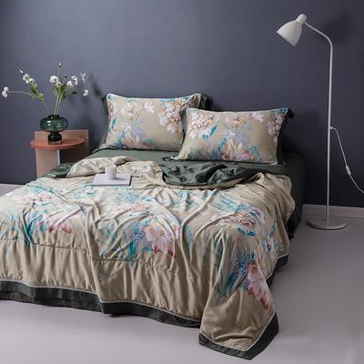 2020天丝镂空夏凉被空调被床单枕套天丝夏被四件套 夏被200X230cm 语花