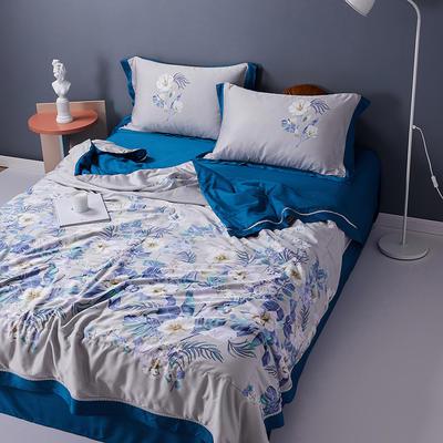 2020天丝镂空夏凉被空调被床单枕套天丝夏被四件套 夏被200X230cm 生如夏花