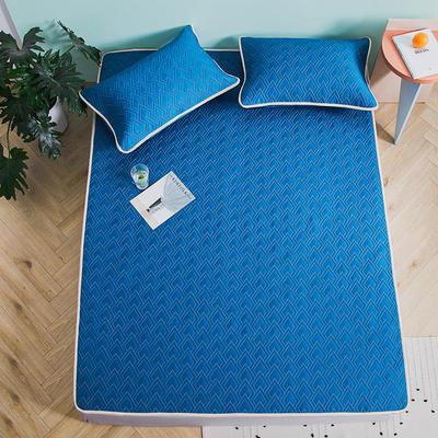新款玻尿酸乳胶凉席天丝乳胶席水洗乳胶天丝凉席子 1.8m(6英尺)床 乳胶席-极光蓝