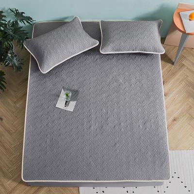 新款玻尿酸乳胶凉席天丝乳胶席水洗乳胶天丝凉席子 1.8m(6英尺)床 乳胶席-矿石灰