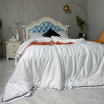 2020新款-希尔顿被子四季通用夏季全棉空调被双人春秋纯棉夏凉被酒店被芯 200x230cm7.5斤 西雅图