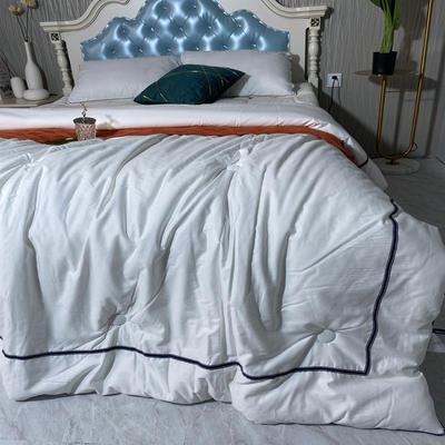 2020新款-希尔顿被子四季通用夏季全棉空调被双人春秋纯棉夏凉被酒店被芯 200x230cm7.5斤 新西里