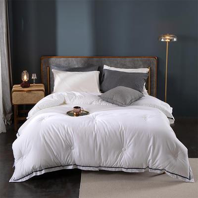 2020新款-宾馆酒店床上用品空调被白色被芯春秋被加厚冬棉被子四季空调被 200x230cm7.5斤 西雅图