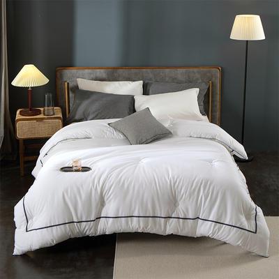 2020新款-宾馆酒店床上用品空调被白色被芯春秋被加厚冬棉被子四季空调被 200x230cm7.5斤 新西里