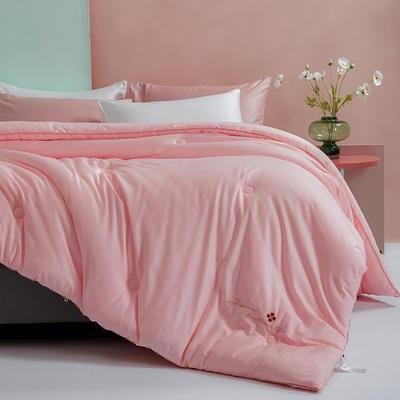 2020款被子全棉冬被纯棉被子 绣花春秋被芯抗菌棉被 200x230cm重约5斤 艾莎-粉