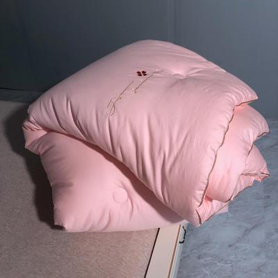 2020款抗菌被子冬被棉被被芯春秋加厚保暖空调被全棉双人薄款 150x200cm秋冬被5斤 艾莎-粉