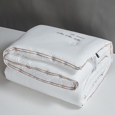 2020款 全棉抗菌子母被 云绒超柔组合被二合一冬被 200X230子母被4.3斤+6.3斤 全棉抗菌子母被-白色