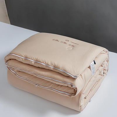 2020款 全棉抗菌子母被 云绒超柔组合被二合一冬被 200X230子母被4.3斤+6.3斤 全棉抗菌子母被-香槟