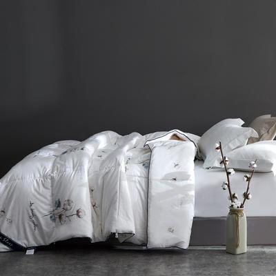2020款 全棉棉花被 新疆长绒棉棉花冬被垫被棉胎 150x200cm重4斤 棉花被-白