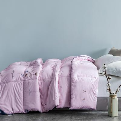 2020款 全棉棉花被 新疆长绒棉棉花冬被垫被棉胎 150x200cm重4斤 棉花被-粉