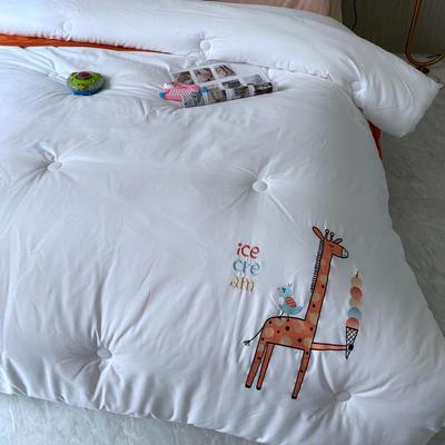 A类全棉儿童被抗菌冬被超柔软幼儿园学生绣花卡通被子 150x200cm秋冬被5斤 长颈鹿
