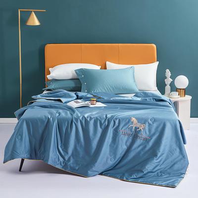 2021新款-全棉刺绣大豆被 200X230cm 绅士蓝
