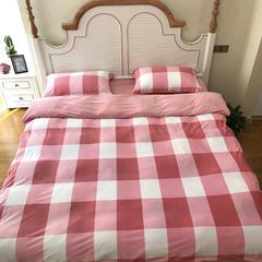 发现家居2017宝宝绒四件套 1.5m(5英尺)床 红白格宝宝绒