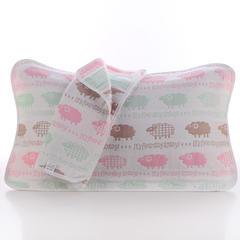 2018新款纯棉六层枕巾 彩羊枕巾(50*80cm/对)