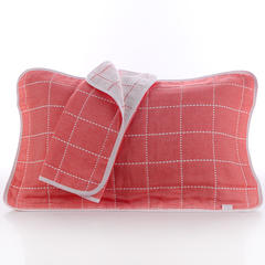 2018新款纯棉六层枕巾 桔格枕巾(50*80cm/对)