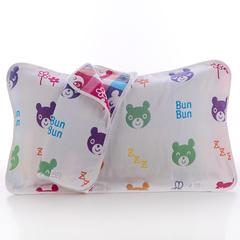 2018新款纯棉六层枕巾 蜜蜂熊枕巾(50*80cm/对)