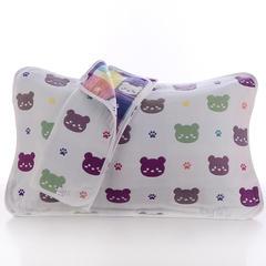 2018新款纯棉六层枕巾 熊头枕巾(50*80cm/对)