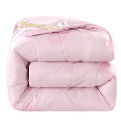 2018年冬季羊毛被  冬被被子被芯 150x200cm  5斤 粉