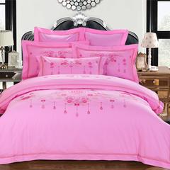 金枝玉叶婚庆四件套系列 抱枕/对 金枝玉叶-粉红