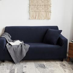 2018新款-针织加厚沙发套 单人 藏青色