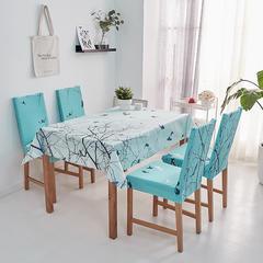 2018新款-餐桌布椅子套 椅子套通用40*60cm 飞鸟归林