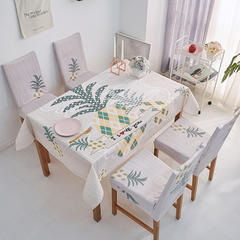 2018新款-餐桌布椅子套 椅子套通用40*60cm 可爱菠萝