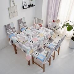 2018新款-餐桌布椅子套 椅子套通用40*60cm 万花筒