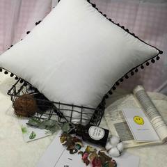 水洗棉纯色方垫 单抱枕套(50*50) 牛奶白方垫