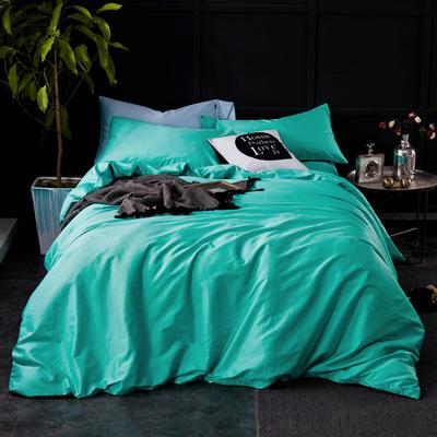 60纯色长绒棉系列四件套 标准(1.5m-1.8m床) 翡玉青