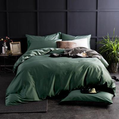 60纯色长绒棉系列四件套 标准(1.5m-1.8m床) 海藻绿2