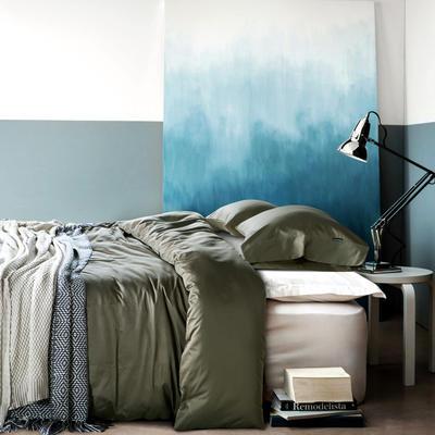 60纯色长绒棉系列四件套 标准(1.5m-1.8m床) 咖啡金