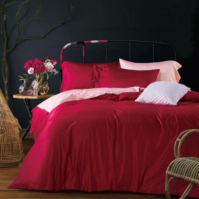 60纯色长绒棉系列四件套 标准(1.5m-1.8m床) 明艳紫