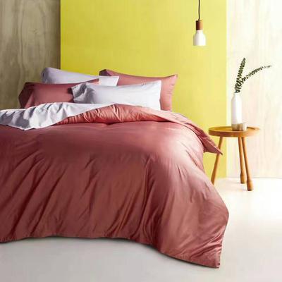 60纯色长绒棉系列四件套 标准(1.5m-1.8m床) 浅砖玉