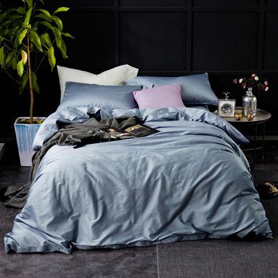 60纯色长绒棉系列四件套 标准(1.5m-1.8m床) 晴空蓝
