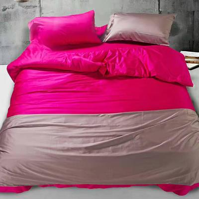 60纯色长绒棉系列四件套 标准(1.5m-1.8m床) 水晶玫