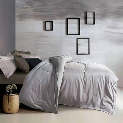 60纯色长绒棉系列四件套 标准(1.5m-1.8m床) 太空灰