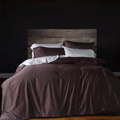 60纯色长绒棉系列四件套 标准(1.5m-1.8m床) 星巴咖
