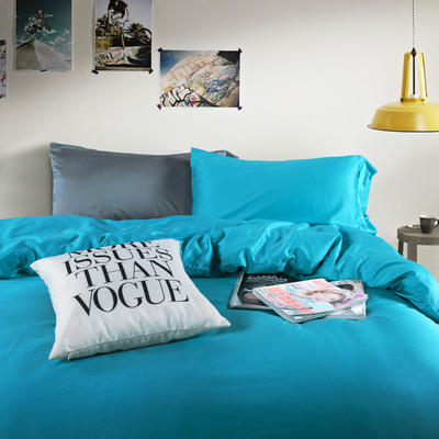 60纯色长绒棉系列四件套 标准(1.5m-1.8m床) 竹叶青