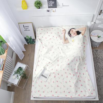 2019纯棉隔脏睡袋新品 草莓120*210cm
