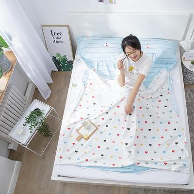 2020纯棉隔脏睡袋新品 快乐小熊120*210cm