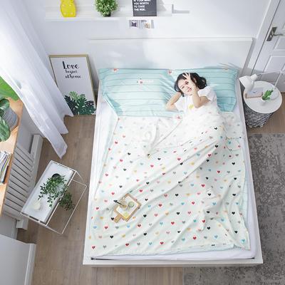 2020纯棉隔脏睡袋新品 快乐小熊200*210cm