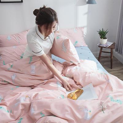 2020新款13372活性轻奢文艺风四件套 1.5m(5英尺)床 柠檬兔