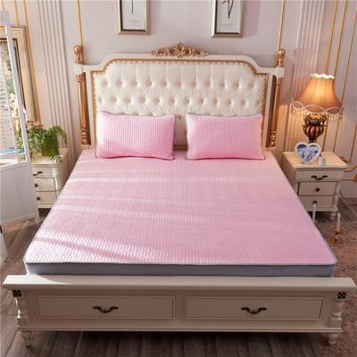 2019新款乳胶凉席-纯色 1.5m(5英尺)床 纯色粉