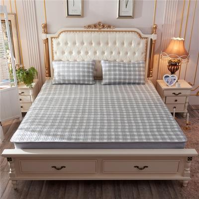 2019新款乳胶凉席-印花 1.5m(5英尺)床 无印格灰