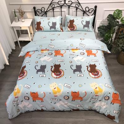 2019年全棉13372精梳棉四件套-卡通系 1.2m(4英尺)床 猫咪精灵